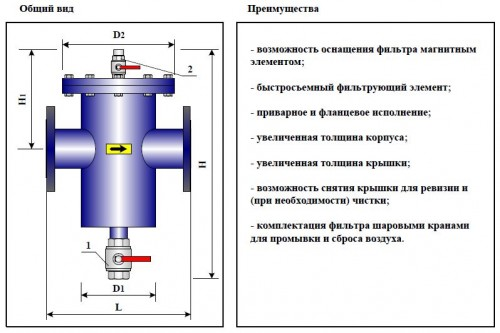 Фильтр-грязевик ФГ(ФГМ)-80